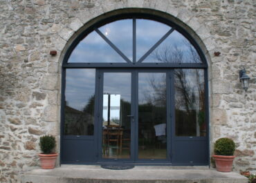 Création d'une porte vitrée